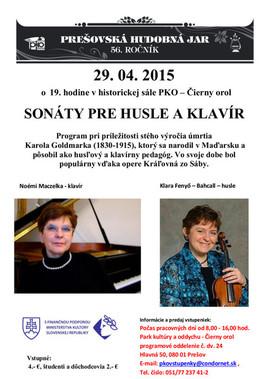 Sonáty pre husle a klavír [PKO 29.4.2015 o 19:00]