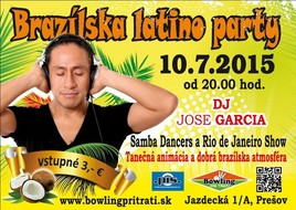 Brazílska latino party [Bowling 10.7.2015 o 20:00]
