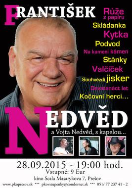 """František Nedvěd - """"Na dlani jednu z tvých řas"""" [SCALA 28.9.2015 o 19:00]"""