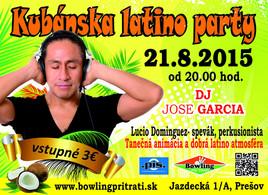 Kubánska latino party [Bowling 21.8.2015 o 20:00]